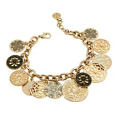 R.J. Graziano Medallion Disc Dangle Bracelet