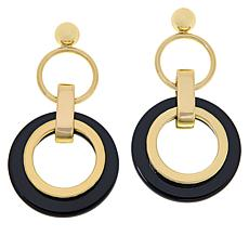 R.J. Graziano Multi-Circle Resin Drop Earrings