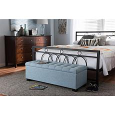 Roanoke Fabric Upholstered Grid-Tufting Storage Ottoman Bench