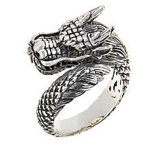 """Robert Manse """"BroManse"""" Men's Sterling Silver Dragon Ring"""