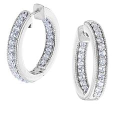 "Robert Manse ""CZ RoManse"" CZ Inside-Outside Hoop Earrings"