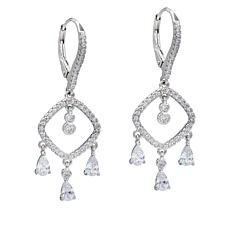 "Robert Manse ""CZ RoManse"" Open Drop Dangle Earrings"