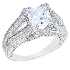 "Robert Manse ""CZ RoManse"" Sterling Silver Square CZ Ring"