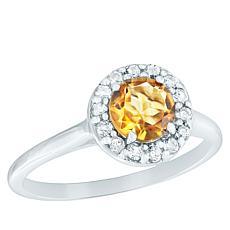 "Robert Manse ""Gem BroManse"" Sterling Silver Colored Gemstone Halo Ring"