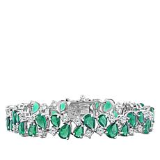"Robert Manse ""Gem RoManse"" Green Chalcedony and White Topaz Bracelet"
