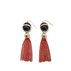 Roberto by RFM Black and Red Fringe Earrings