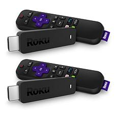 Roku Stick 2pk Media Streamers w/Voice Search, TV Controls & Vouchers