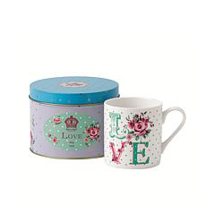 Royal Albert New Country Roses Mugs In Tins - Love