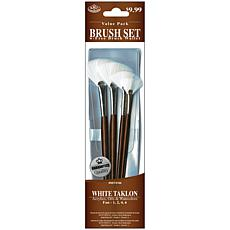 Royal Langnickel Brush Set 4pc Value Pack White Taklon