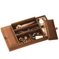 Royce Men's Nappa Leather Valet Tray