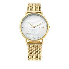 RumbaTime Lafayette Goldtone Mesh Band Watch