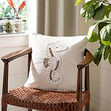 "Safavieh 18"" x 18"" Sanden Seahorse Pillow"