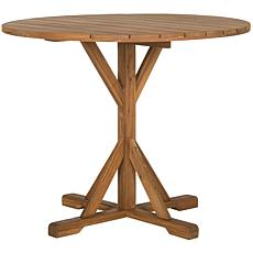 Safavieh Arcata Round Table - Teak Brown Finish