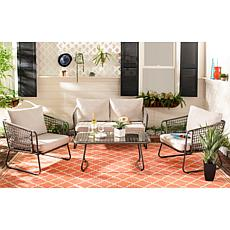 Safavieh Benjin 4-Piece Living Set - Beige, White