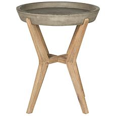 Safavieh Celeste Modern Concrete Round End Table