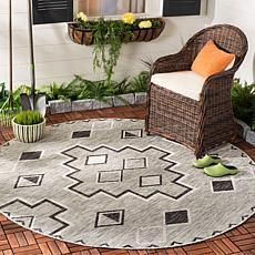 "Safavieh Courtyard Aidan 6'-7"" Round Indoor/Outdoor Rug"