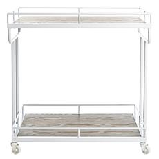 Safavieh Dawson 2-Tier White Rectangular Bar Cart