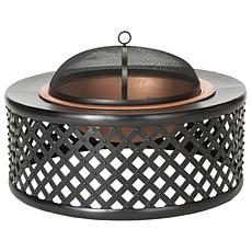 Safavieh Jamaica Fire Pit with Screen, Grate and Poker