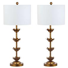 "Safavieh Lani Leaf 32"" Table Lamp Set"