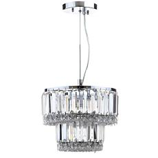 "Safavieh Lulu 4 Light Chrome Glass 10"" Diameter Adjustable Pendant"