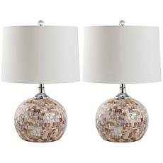 Safavieh Nikki Capiz Shell Table Lamp 2pk - 22-1/2""