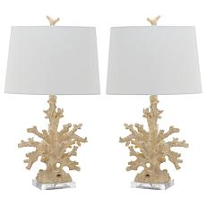 Safavieh Set of 2 Coral Branch Table Lamps