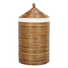 Safavieh Wellington Rattan Storage Hamper With Liner
