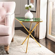 Safavieh Zamara Faux Agate Side Table