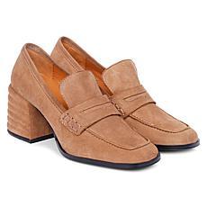 Saint G Amelia Suede Block Heels Loafer