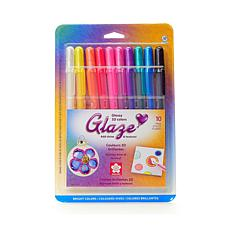 SAKURA Gelly Roll Glaze Pens Bright Assorted Colors 10-Pack