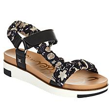 Sam Edelman Ashie Leather and Fabric Sandal