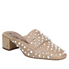 Sam Edelman Augustus Leather Studded Block-Heel Mule
