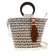 Sam Edelman Gracelyn Bucket Straw Handbag