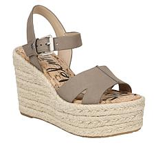 5a4708a34 Sam Edelman Leather Maura Wedge Sandal