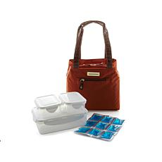 Samantha Brown Basket Cooler Lunch Tote w/Containers