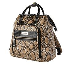 Samantha Brown Embossed Backpack