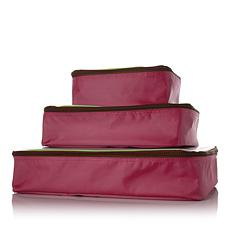 Samantha Brown Microfiber Packing Cube 3-piece Set