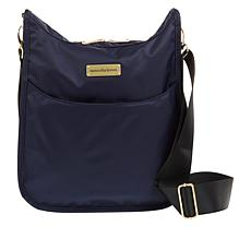 Samantha Brown Nylon Crossbody Bag with RFID Protected Pocket
