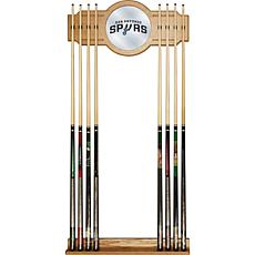 San Antonio Spurs NBA Billiard Cue Rack with Mirror
