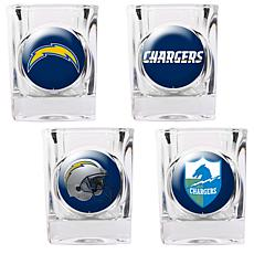 San Diego Chargers 4pc Collector's Shot Glass Set