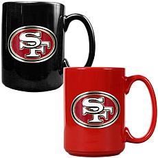 San Francisco 49ers 2pc Coffee Mug Set