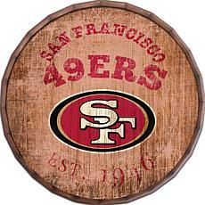 """San Francisco 49ers Established Date 24"""" Barrel Top"""