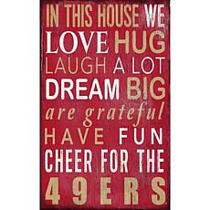 San Francisco 49ers In This House Sign
