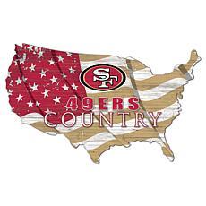San Francisco 49ers USA Shape Flag Cutout