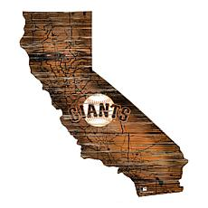 San Francisco Giants 24in. Distressed State w/Logo Sign