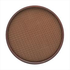 """San Remo Vinyl-Covered Round Serving Tray - 14"""""""