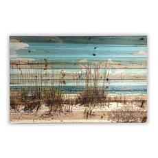 """Sand Dunes 24"""" x 36"""" Print on Wood"""