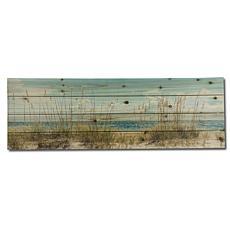 "Sand Dunes Long 12"" x 36"" Print on Wood"