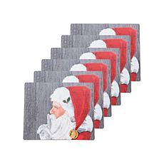 Santa Hardboard Placemat 6-Pack