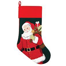 Santa Stocking Green